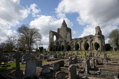 A view of the remains of Crowland Abbey, Lincolnshire, United Ki stock images
