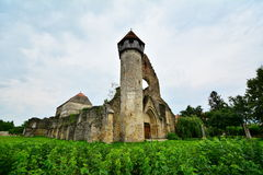 View of the remains of a Gothic monastery. Royalty Free Stock Photos