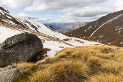 View of the Remarkables mountain Stock Image
