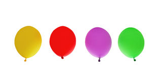 View,  render of color shiny transparent rubber inflatable air balloons or balls Stock Photography