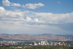 View of Reno. The view of downtown Reno from a hiking trail Royalty Free Stock Photo