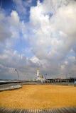 Tel-Aviv Harbor & Power Plant Chimney Stock Photos