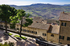 View of republic San Marino. royalty free stock photography