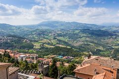 View of Republic San Marino Royalty Free Stock Photos
