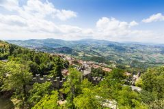 View of Republic San Marino Royalty Free Stock Image