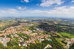 View of Republic San Marino Royalty Free Stock Photography