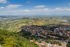 View of Republic San Marino Stock Photo