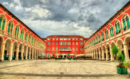 View of Republic Square in Split Stock Images