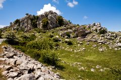 View of reserve El Torcal in Andalucia Royalty Free Stock Images