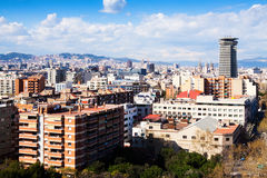 View of residence district in Barcelona Royalty Free Stock Photo
