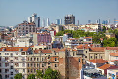 The view of residental  houses in Galata region of Istanbul. Royalty Free Stock Photography