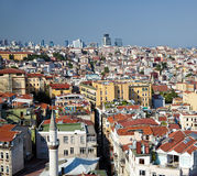 The view of residental  houses in Galata region of Istanbul. Royalty Free Stock Photo