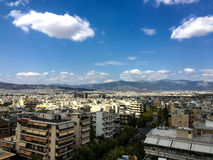 A view of the residential area of the city of Athens in Greece Stock Images