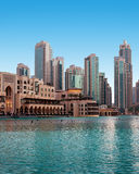 View of a residential area of Dubai, UAE Royalty Free Stock Image