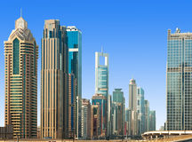 View of a residential area of Dubai, UAE Stock Image