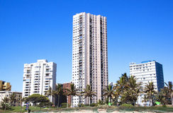 View of Residential Buildings on Beachfront in Durban Royalty Free Stock Image