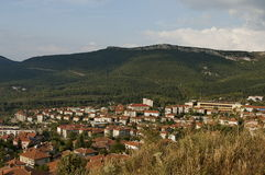 View a residential district in the Belogradchik town Royalty Free Stock Photography