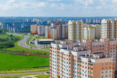 View of the residential district Royalty Free Stock Photo