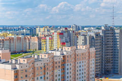 View of the residential district stock photo