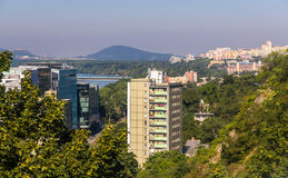 View of residential districts of Bratislava, Slovakia Stock Photo