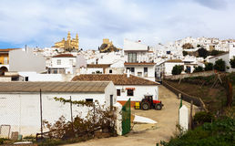 View of residential districts in spanish town.  Olvera Stock Photography
