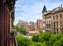 View into  residential Eixample district Royalty Free Stock Photo