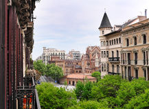 View into  residential Eixample district Stock Photo