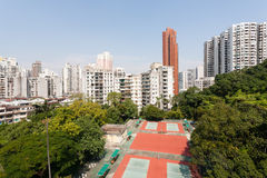 View of the residential neighborhoods Macau. Royalty Free Stock Photography