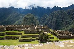 Machu Picchu Peru, residential section. View of the residential section of Machu Picchu Peru, ancient area stock images