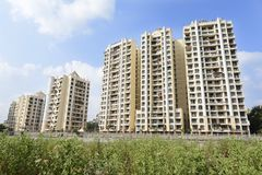 View of Residential Township. Mumbai,India,May 23,2015: View of Residential complex in kalyan ,Thane near Bombay,Mahrashtra ,India Stock Image