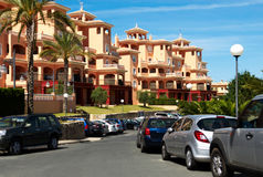 View of the resort. With blue sky Stock Photo