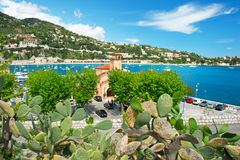 View of resort and bay of Villefranche Royalty Free Stock Image