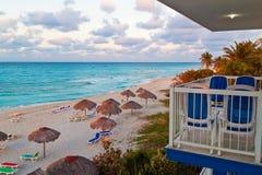 View from a resort at the cuban Varadero beach. View from a resort at the beautiful cuban Varadero beach Royalty Free Stock Images
