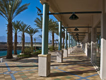 View on resort hotels in Eilat city, Israel Royalty Free Stock Photo