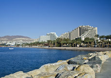 View on resort hotels in Eilat city, Israel Stock Photos