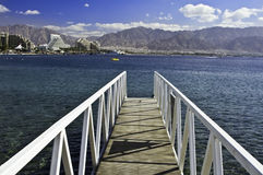 View on resort hotels, Eilat, Israel Stock Image