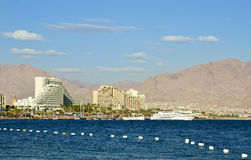 View on resort hotels in Eilat, Israel Stock Photos