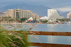 View on resort hotels in Eilat, Israel Royalty Free Stock Photo