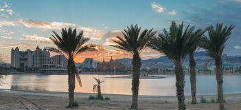View on resort hotels of Eilat, Israel Stock Image