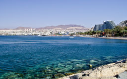 View on resort hotels near Eilat, Israel Royalty Free Stock Photography