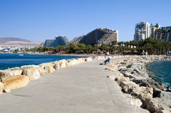 View on resort hotels near Eilat, Israel Stock Photo
