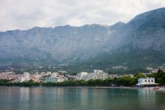 View of the resort Makarska. Croatia Stock Image
