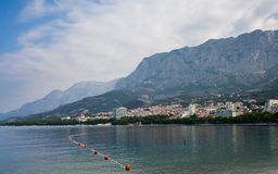View of the resort Makarska. Croatia Royalty Free Stock Image