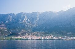 View of the resort Makarska. Croatia Royalty Free Stock Image