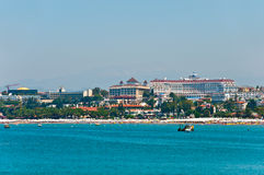 View of resort Side  from the sea. Turkey Stock Photo