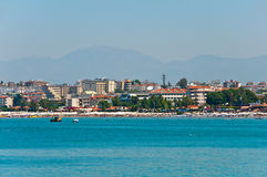 View of resort Side  from the sea. Turkey Royalty Free Stock Image