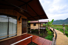View of a resort in Thailand Royalty Free Stock Photos
