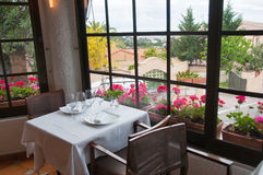 View from restaurant to outside Stock Photography