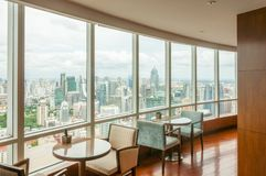 Restaurant on the top of skytower Stock Photography