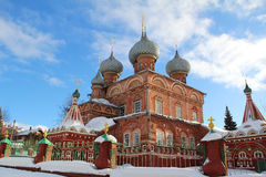 View of the Resurrection Church on the Debra on a sunny winter day. Russia. Stock Images